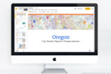 Oregon PowerPoint template theme, everything you need to make your state report fast and easy.