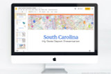 South Carolina PowerPoint template theme, everything you need to make your state report fast and easy.
