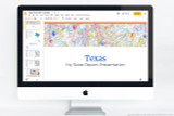 Texas PowerPoint template theme, everything you need to make your state report fast and easy.