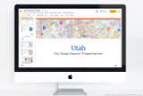Utah PowerPoint template theme, everything you need to make your state report fast and easy.