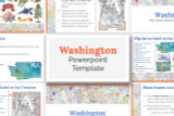 This Washington powerpoint template theme is the easiest way to do a state report.
