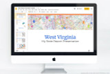 West Virginia PowerPoint template theme, everything you need to make your state report fast and easy.