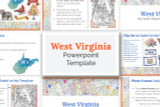 This West Virginia powerpoint template theme is the easiest way to do a state report.