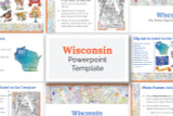 Wisconsin State PowerPoint Template Theme