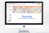 Wyoming PowerPoint template theme, everything you need to make your state report fast and easy.