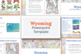 This Wyoming powerpoint template theme is the easiest way to do a state report.