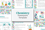 This chemistry PowerPoint template has everything you need to make your digital Science Fair report!