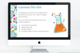 Chemistry themed powerpoint template - fully customizable!