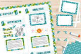 The kit also includes Plant Science themed frames for visual aids and graphs, and photo corners for your images.