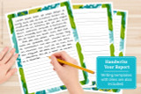 The lined version of the Biology writing template can be used to handwrite your report. Just print the number of templates you need, and write your report on the lines.