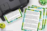 Print as many copies of the digital Biology writing template files as you need.