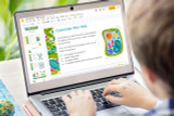 Kids can edit the Plant Science Powerpoint template using PowerPoint, Apple Keynote, or Google Slides.