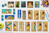 Cut outs include the Ancient Egyptian Gods AmunRa, Osiris, Isis, Hathor, Horus, Ra, Anubis, Seth, Thoth, and Sobek.