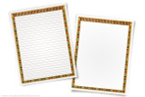 Printable paper with an Ancient Egyptian papyrus border. Includes blank page to type your report, and lined page to handwrite.