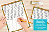 Lined writing templates are also included so you can hand write your report.