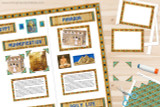 Add papyrus paper photo frames and photo corners to your Ancient Egypt project.