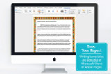 The writing templates can be edited using Microsoft Word or Apple Pages. Type your report with an Ancient Egypt papyrus paper border!