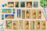 The kit includes printable clip art of the Ancient Egyptian Gods, Goddesses, icons, artifacts and landmarks.   (King Tut (Tutankhamun) Mask, Egyptian Pyramids of Giza, The Great Sphinx, The Rosetta Stone, Egyptian Mummy Case (sarcophagus), Egyptian Obelisk with Hieroglyphics, Bastet Statue, Canopic Jars (organ mummification jars), Egyptian Scribe, Scarab Beetles, AmunRa, Osiris, Isis, Hathor, Horus, Ra, Anubis, Seth, Thoth, Sobek)