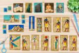 The kit includes printable clip art of the Ancient Egyptian Gods, Goddesses, icons, artifacts and landmarks.   (King Tut (Tutankhamun) Mask, Egyptian Pyramids of Giza, The Great Sphinx, The Rosetta Stone, Egyptian Mummy Case (sarcophagus), Egyptian Obelisk with Hieroglyphics, Bastet Statue, Canopic Jars (organ mummification jars), Egyptian Scribe, Scarab Beetles, AmunRa, Osiris, Isis, Hathor, Horus, Ra, Anubis, Seth, Thoth, Sobek)
