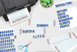 """Easily create custom titles for your poster using the alphabet """"stickers""""."""