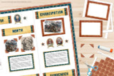 Use the photo frames and photo corners in the kit to add images to your American Civil War report.