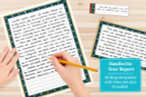 Use the lined writing templates to handwrite your report.