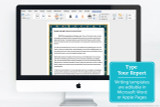 Use the blank writing templates to type your report, using Microsoft Word, Apple Pages, or a similar word processing program.