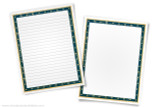 Writing templates with an American Civil War themed border - both lined and unlined versions are included in purchase.