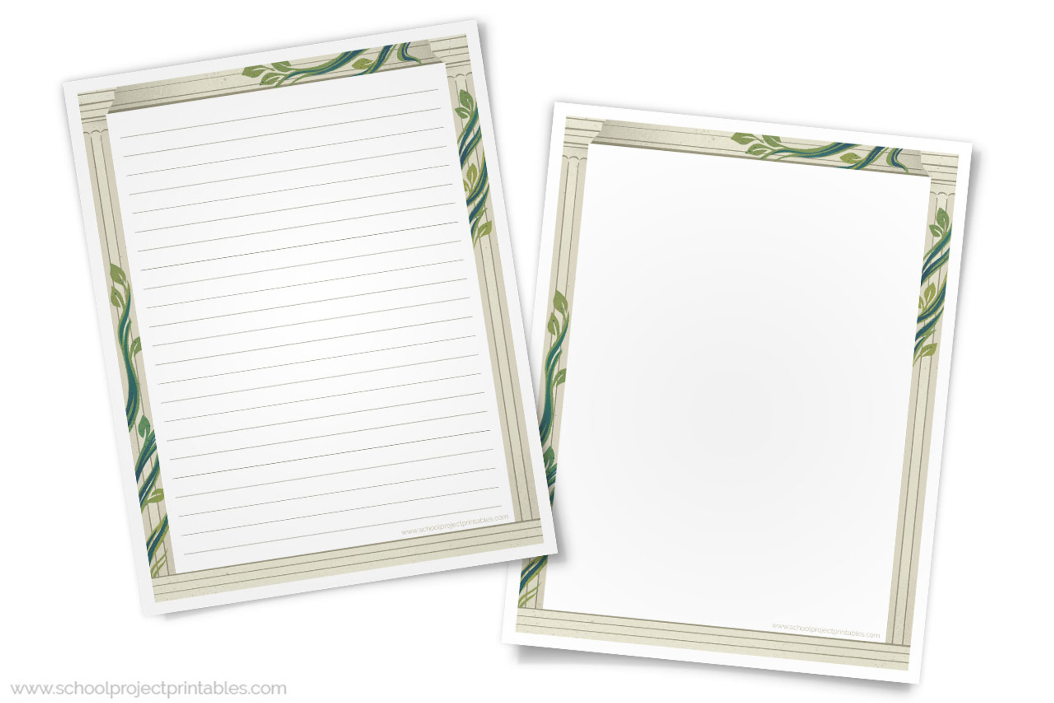 graphic relating to Printable Lined Paper With Border named Historical Rome Creating Templates - Paper with Roman Column Border