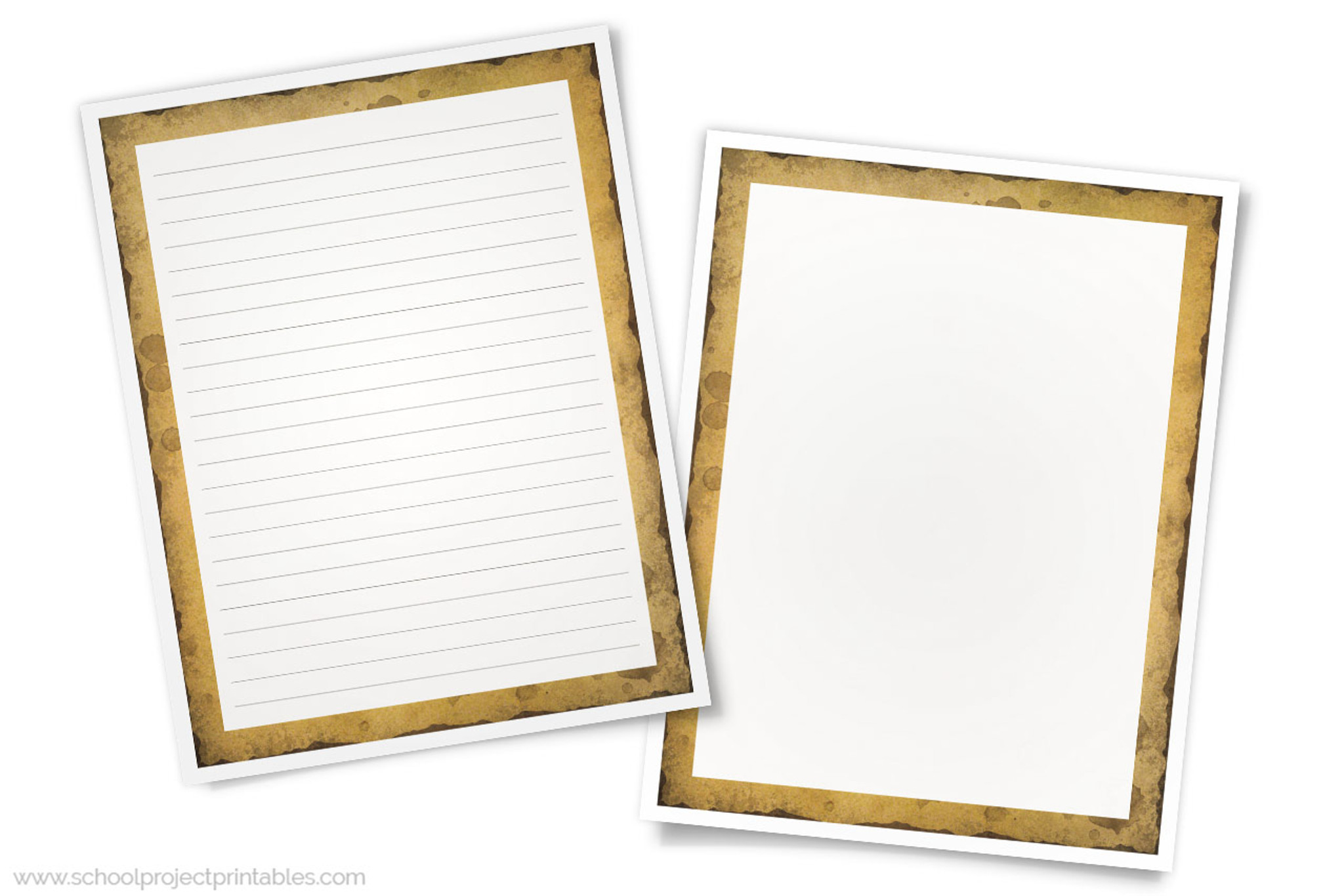 photograph relating to Printable Border Paper referred to as Historical past Acceptable Producing Templates - Paper with Aged Burnt Parchment Border