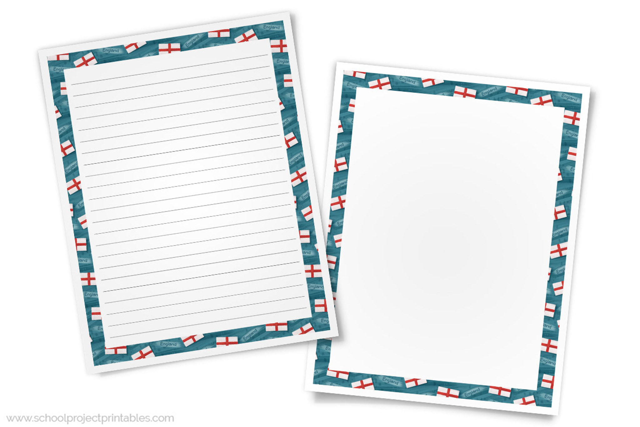 picture about Printable England Flag titled England Creating Templates - Paper with English Flag Border