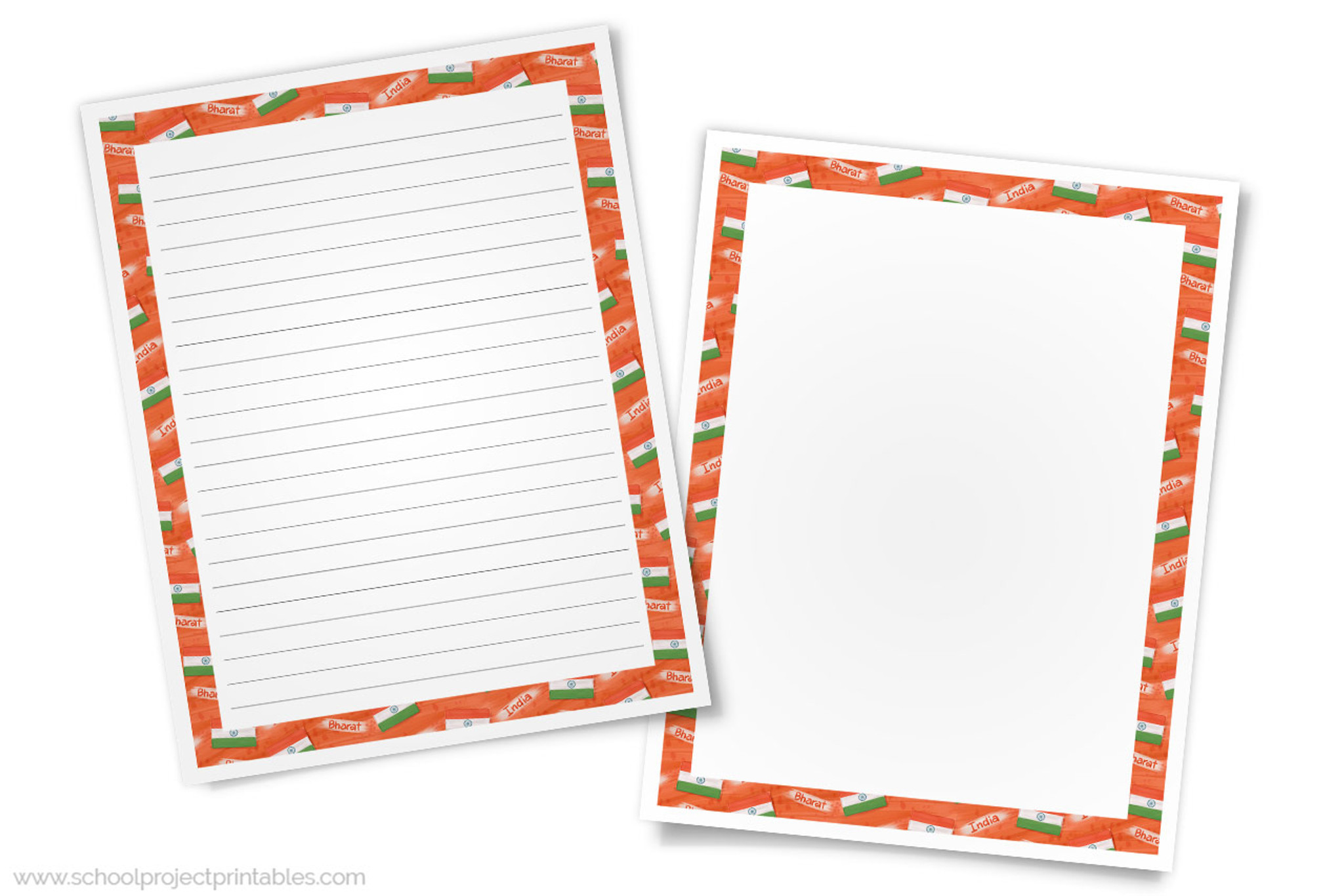 picture relating to Indian Flag Printable referred to as India Creating Templates - Paper with Indian Flag Border