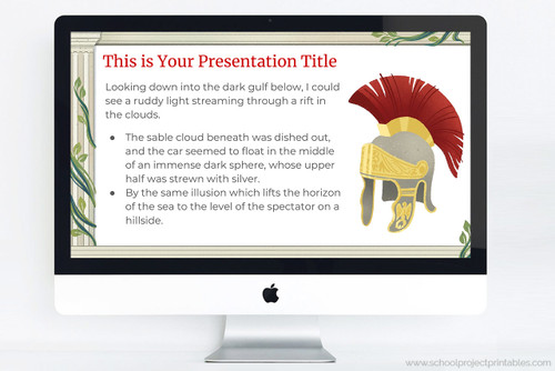 Download this Ancient Rome themed powerpoint template for school reports!