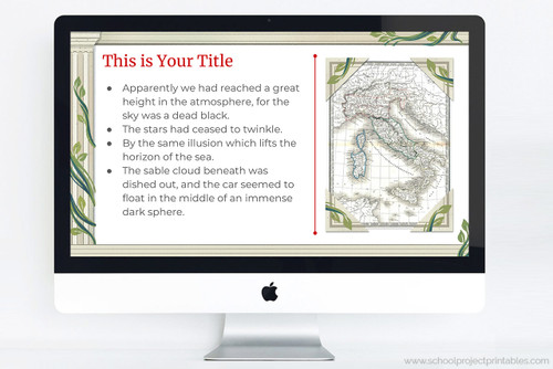 Use this powerpoint template to make your Ancient Rome report!