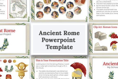 Make your Ancient Rome school project with this powerpoint template!