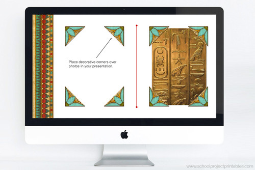 Powerpoint template for Ancient Egypt including decorative clip art.