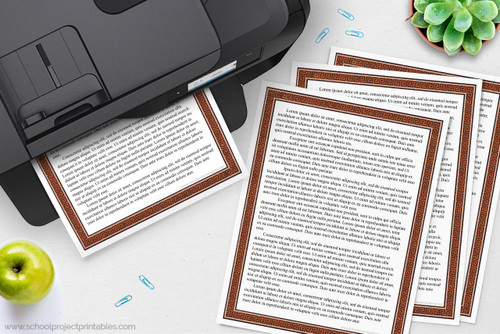 Printable writing templates for Ancient Greece reports.