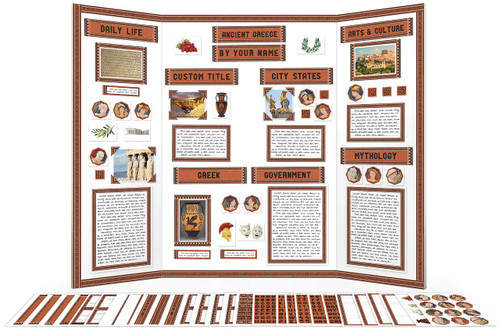 Complete printable kit for Ancient Greece reports and school projects.