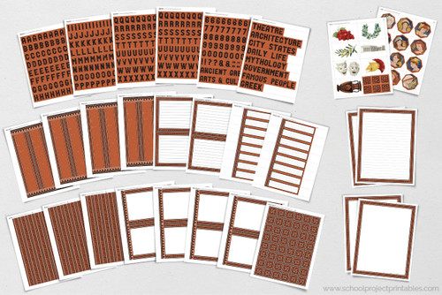 All of this is included in the downloadable Ancient Greece kit! Borders, titles, writing templates,  clip art and more!