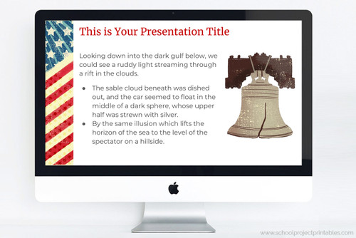 American Revolution themed Google slides Template.