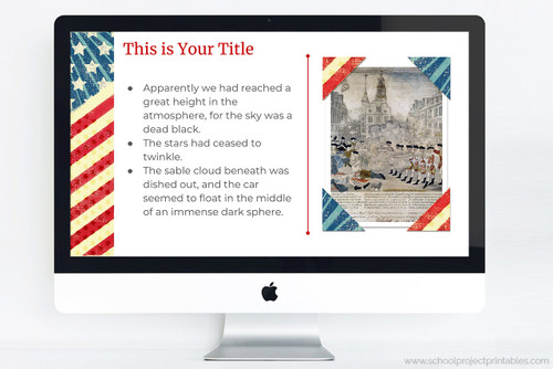 Google slides template for American Revolutionary War projects.