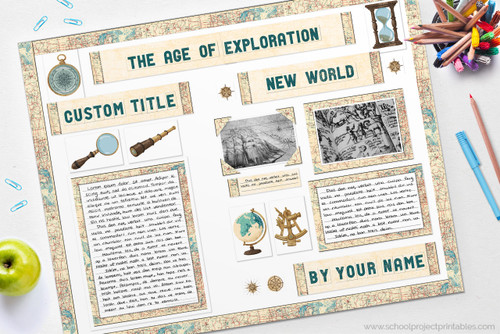 Age of Discovery report poster - use our kit to make this!