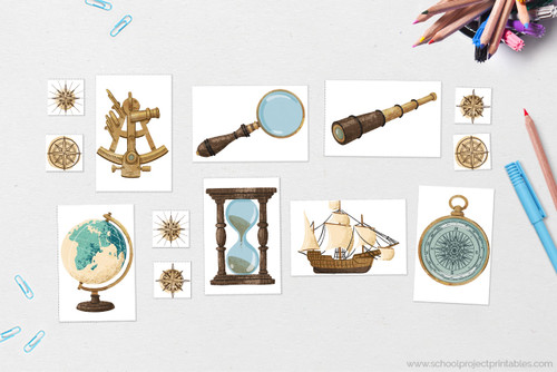 Age of exploration icons and clip art!