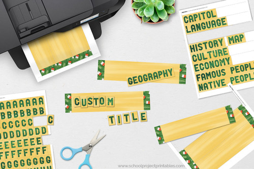 Irish flag titles, create custom titles for your project on Ireland!