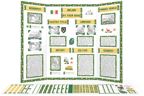 Printable kit for Ireland display boards! Writing templates, borders, titles and more!