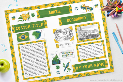 Use this kit to make your report on Brazil.