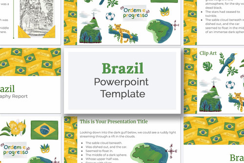 Download this Brazil PowerPoint deck template kit for your school report!