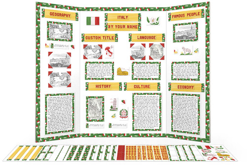 Printable kit for Italy themed display board.
