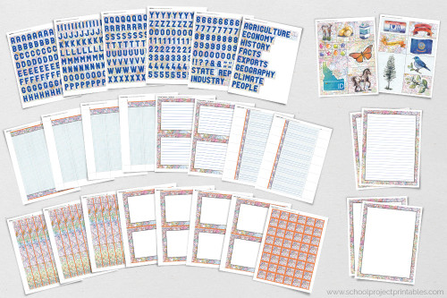 All of these pages are included in the Idaho state report kit. Buy the kit and get writing templates, borders, title, captions, and more!