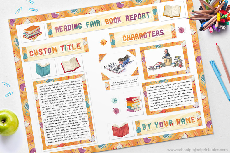 Reading Fair DYI - How to Make a Book Report Display Tutorial
